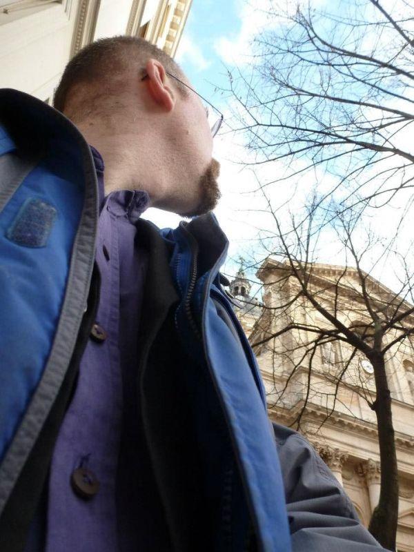 Me at the Place de la Sorbonne